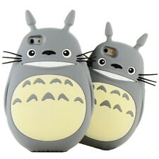 3D Cartoon Totoro cat Soft Silicone Back Case Cover for iPhone Grey color cute
