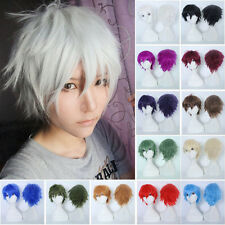 Short Unisex Anime Costume Cosplay Wig Halloween Hair Costume Cosplay Full Wig S