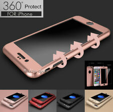 iPhone 6 6S 7 8 Plus 360° Protective Acrylic Hard Case Cover w/ Screen Protector