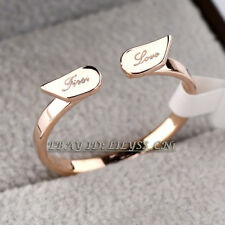 A1-R3119 Fashion Angel Wing 'Love' Ring 18KGP