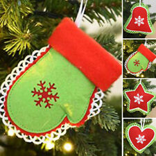 Star Love Heart Bell Christmas Tree Decoration Hanging Xmas Ornament Props