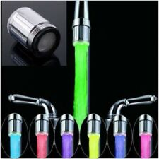 Temperature Sensor Water-Tap Faucet RGB Glow Shower LED Light Kitchen CB