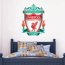 Official Liverpool Football Club Crest Wall Sticker +Badge Set Decal Vinyl Mural