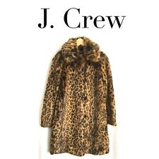 J CREW COLLECTION Faux Fur LEOPARD Print Coat G9553 XS SMALL MEDIUM *SOLD OUT*