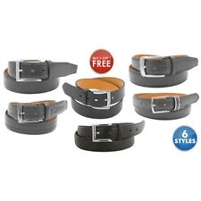 Top Quality Men's Genuine Leather Dress Belts by BOGO Buy one get one FREE!