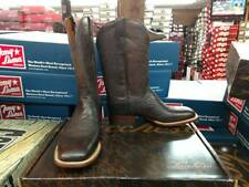 Lucchese Lance Mens Antique Chocolate Cl1014.W8 Smooth Ostrich Cowboy Boot