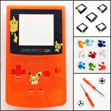 Nintendo Game Boy Color GBC Replacement Housing Shell Screen Orange BUTTONS!