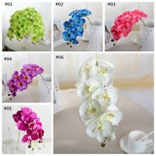 Artificial Bouquet Butterfly Orchid Silk Flower Home Wedding Decor Phalaenopsis