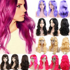Cosplay Wigs for Sexy Ladies Wavy Straight Long Full Wig Bright Blonde Purple ah