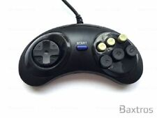 1-2 NEW 6 BUTTON RETRO CONTROLLER GAME PAD FOR SEGA GENESIS & MEGA DRIVE CONSOLE
