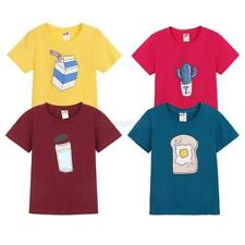2-7T Child Kids Cartoon T-Shirts Tops Boys Girls Blouse Tee Shirt Casual Clothes