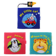 Double Side Animal Cloth Book Soft Infant Early Cognitive Development Toy