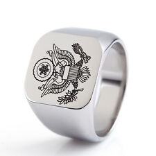 cool high quality 316L stainless steel unique eagle design silver men ring