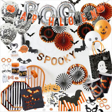 Happy Halloween Party Tableware Plates Napkins Cups Gothic Spooky Decoration Set