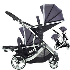 Duellette BS Twin double Pram Tandem Pushchair baby carrycot Maxi Cosi pack inc!