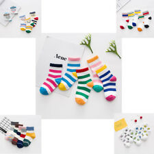 5 Pairs Fall Trend Baby Boys Girls Stripes Fight Color Cotton Socks