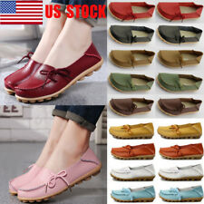 US Women Comfy Flat Oxfords Casual Driving Peas Slip On Moccasin Lazy Shoes Size