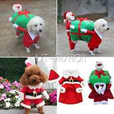 Funny Christmas Santa Claus Carry Gift Box Xmas Costume Apparel fr Pet Puppy Dog