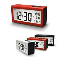 Digital Backlight LCD Alarm Clock Time Thermometer Snooze Alarm Table Clock
