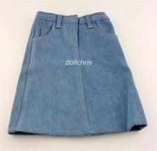 """Skirt Clothes for 18"""" American Girl Doll Long Blue Denim with Pockets New"""