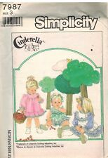 7987 UNCUT Vintage Simplicity Sewing Pattern Girls Dress Pinafore Sundress Panty