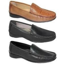 FLV002 Jenny Two Tone Moccasin Leather Snake Print Loafer Flats Shoes