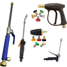High Pressure Power Washer Spray Nozzle Water Hose Wand Attachment Car Washing