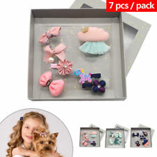 7pcs/Box Pet Dog Hair Clips Bows Hairpin Puppy Cat Grooming Accessories Headwear