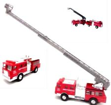 Fire Engines Ladder Or Hose Truck Die-Cast Metal 1:43 Scale Red Pull Back Power
