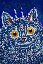 """Louis Wain : """"A Cat in the Gothic Style"""" (1925/1939) — Giclee Fine Art Print"""