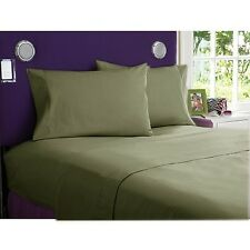 NEW 800 TC EGYPTIAN COTTON COMPLETE BEDDING COLLECTION IN ALL SETS & MOSS COLOR