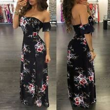 Women Strapless Off Shoulder Floral Printed Black And White Color Maxi Dress