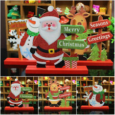 Christmas Cute Santa Claus Snowman Xmas Decor Living Room Table Ornament Decor