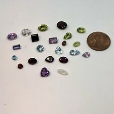 Natural Mixed Faceted Loose Gemstone Parcel Lot