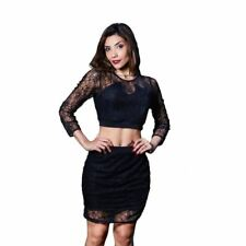 Stylish O-neck Full Sleeve Solid Black Color Mid-Calf Length Dress For Women