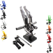 CNC Adjustable Rearset Foot Rest Pegs For 2012-2015 2014 2013 HONDA GROM MSX125