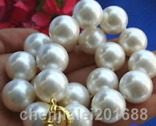 Shell Pearl Necklace fine 8-20MM  WHITE round South Sea