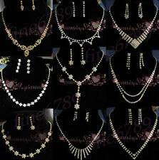 New Lot Fashion Golden Set More Choose Styles Crystal Rhinestone Necklaces