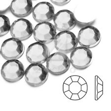 1000pcs Acrylic Flatback Rhinestones White Round Beads Nail Art Decor 1mm-10mm