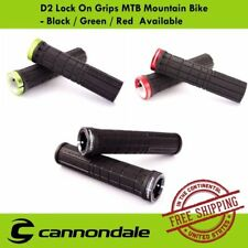 Cannondale D2 Lock On Grips MTB Mountain Bike - Black / Green / Red