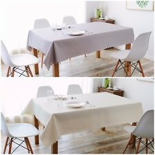 IMEA HOME Water Repellent Scallop Tablecloth 1pc Shimmer Diamond 55x85 inch