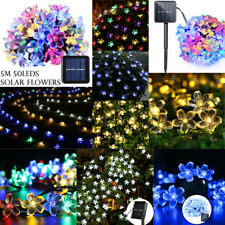50LED 5M Solar Outdoor String Fairy Light Patio Party Wedding Christmas Decor