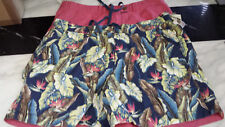 Tailor Vintage Reversible Shorts - Deep Rose/Vintage Birds