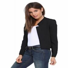 Autumn Candy Color Cardigan Notched Collar Casual Women Blazer