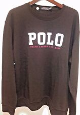 NWT Polo Ralph Lauren Polo Spellout Pullover Sweatshirt In Black