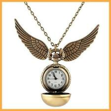 Harry Potter Snitch Watch Necklace Steampunk Quidditch Pocket Clock Pendant ZH