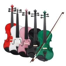 4/4 Full Size Wood Acoustic Violin Fiddle with Storage Case Bow Rosin Set