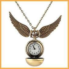 Harry Potter Snitch Watch Necklace Steampunk Quidditch Pocket Clock Pendant ASD