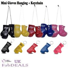 Boxing Gloves Mini Hanging Car Mirror Boxing Keyring Sports Fan Accessories