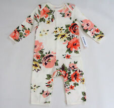 NWT Baby Girls Old Navy Size 6 12 or 18 24 Months Rose Flower Knit Pant Romper